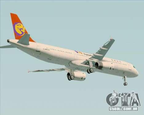 Airbus A321-200 TransAsia Airways para vista lateral GTA San Andreas