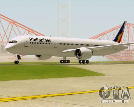 Airbus A350-900 Philippine Airlines para GTA San Andreas traseira esquerda vista