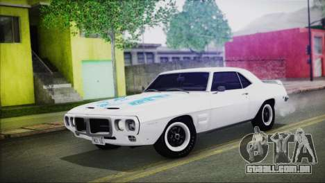 Pontiac Firebird Trans Am Coupe (2337) 1969 para GTA San Andreas vista inferior