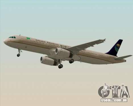 Airbus A321-200 Saudi Arabian Airlines para o motor de GTA San Andreas