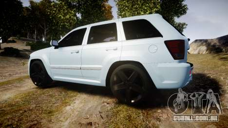 Jeep Grand Cherokee SRT8 stock para GTA 4 esquerda vista