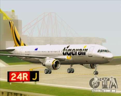 Airbus A320-200 Tigerair Australia para GTA San Andreas esquerda vista