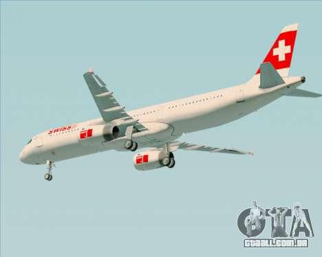 Airbus A321-200 Swiss International Air Lines para as rodas de GTA San Andreas