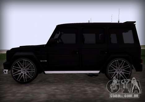 Brabus 800 para GTA San Andreas vista traseira