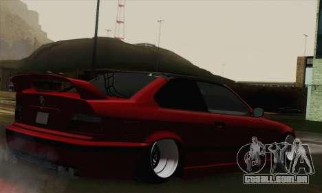 BMW M3 E36 Tuned para GTA San Andreas esquerda vista