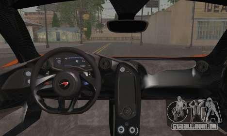 McLaren P1 Black Revel para GTA San Andreas traseira esquerda vista