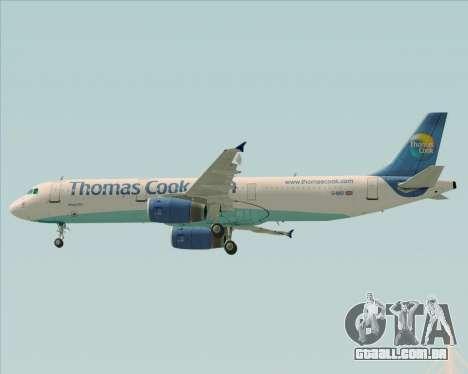 Airbus A321-200 Thomas Cook Airlines para GTA San Andreas vista superior