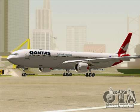 Airbus A330-300 Qantas (New Colors) para GTA San Andreas esquerda vista