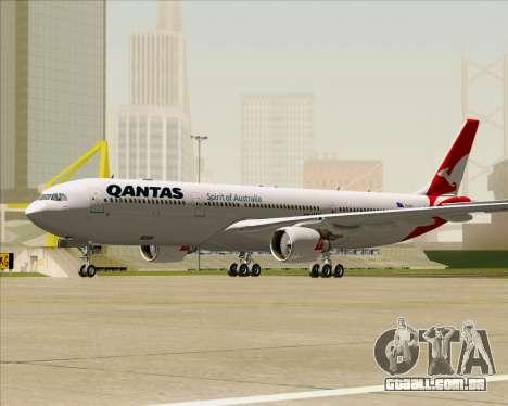Airbus A330-300 Qantas (New Colors) para GTA San Andreas esquerda vista