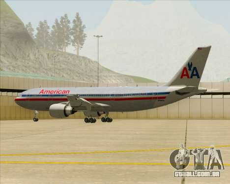 Airbus A300-600 American Airlines para as rodas de GTA San Andreas