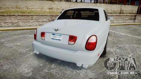 Bentley Arnage T 2005 Rims1 Chrome para GTA 4 traseira esquerda vista