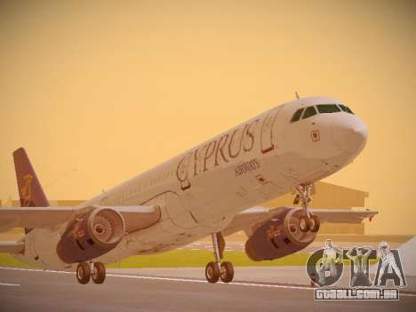 Airbus A321-232 Cyprus Airways para GTA San Andreas