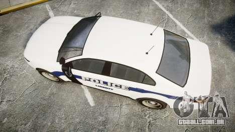 GTA V Vapid Interceptor LP [ELS] Slicktop para GTA 4 vista direita