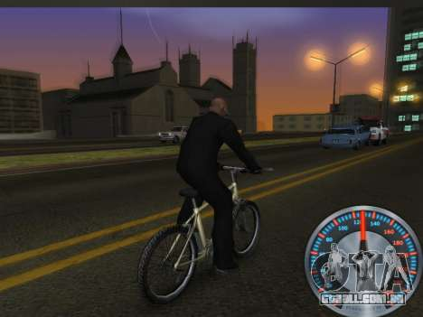 Clássico metal velocímetro para GTA San Andreas quinto tela