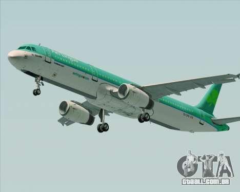 Airbus A321-200 Aer Lingus para GTA San Andreas traseira esquerda vista