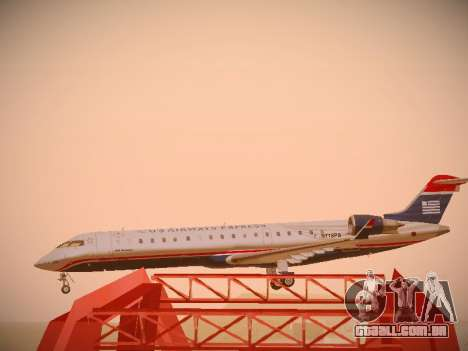 Bombardier CRJ-700 US Airways Express para vista lateral GTA San Andreas