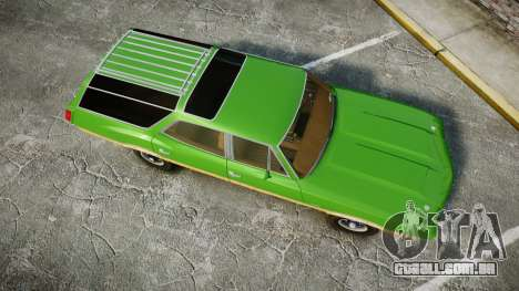 Oldsmobile Vista Cruiser 1972 Rims2 Tree6 para GTA 4 vista direita