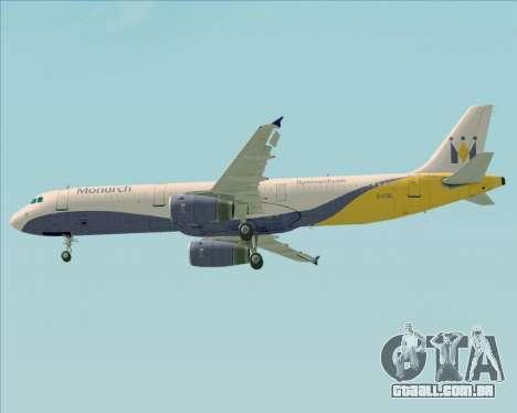 Airbus A321-200 Monarch Airlines para as rodas de GTA San Andreas