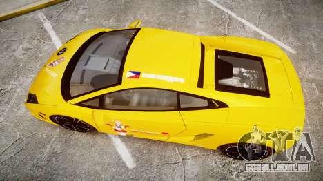 Lamborghini Gallardo 2013 HDD Honoka Kousaka para GTA 4 vista direita