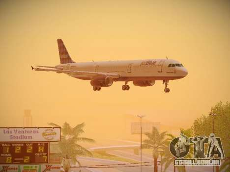 Airbus A321-232 jetBlue Airways para vista lateral GTA San Andreas