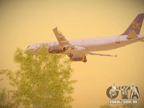 Airbus A321-232 Cyprus Airways para vista lateral GTA San Andreas
