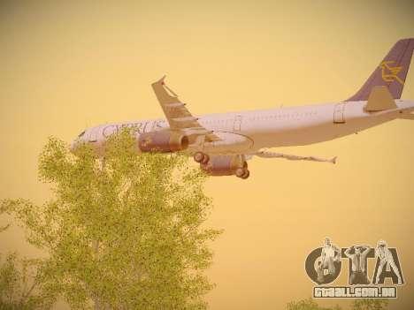 Airbus A321-232 Cyprus Airways para vista lateral GTA San Andreas