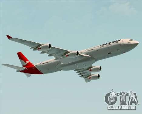 Airbus A340-300 Qantas para GTA San Andreas vista direita