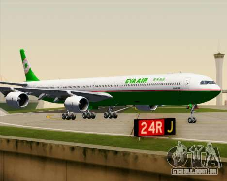 Airbus A340-600 EVA Air para GTA San Andreas vista superior