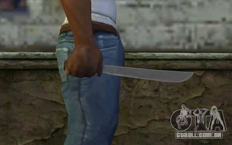 Machete (DayZ Standalone) v2 para GTA San Andreas terceira tela