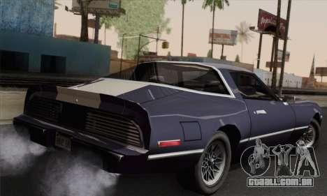 New Phoenix para GTA San Andreas esquerda vista