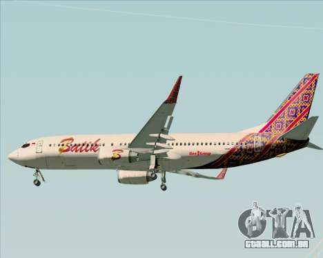 Boeing 737-800 Batik Air para GTA San Andreas vista inferior