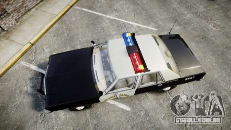 Ford LTD Crown Victoria 1987 Police CHP1 [ELS] para GTA 4 vista direita