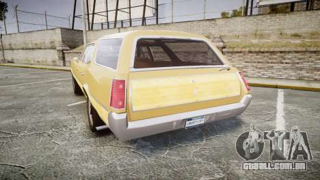 Oldsmobile Vista Cruiser 1972 Rims1 Tree5 para GTA 4 traseira esquerda vista