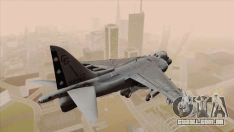 EMB AV-8 Harrier II USA NAVY para GTA San Andreas esquerda vista