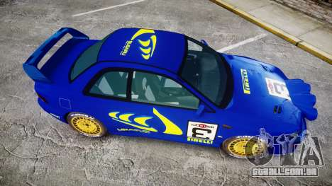 Subaru Impreza WRC 1998 Rally v2.0 Yellow para GTA 4 vista direita