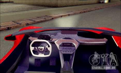 Specter Roadster 2013 para GTA San Andreas traseira esquerda vista