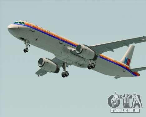 Airbus A321-200 United Airlines para GTA San Andreas vista direita