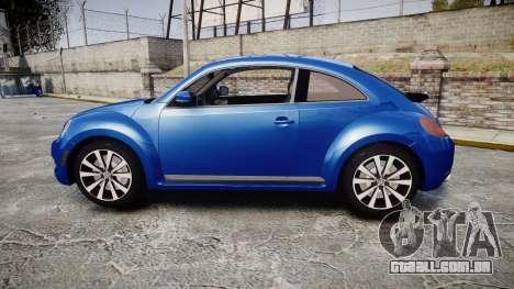 Volkswagen Beetle A5 Fusca para GTA 4 esquerda vista