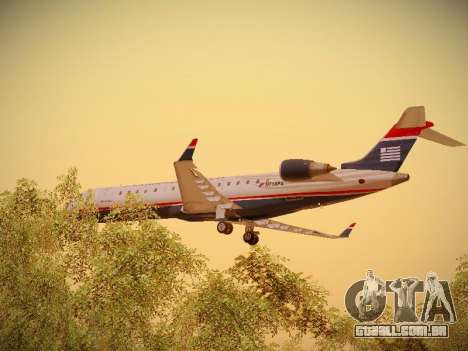 Bombardier CRJ-700 US Airways Express para GTA San Andreas vista inferior