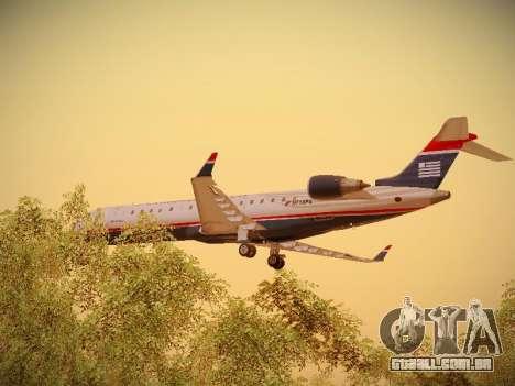 Bombardier CRJ-700 US Airways Express para GTA San Andreas vista inferior