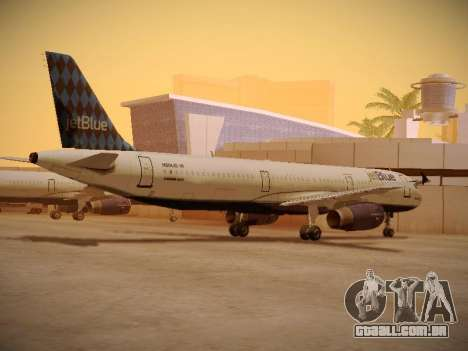 Airbus A321-232 jetBlue Airways para GTA San Andreas vista traseira