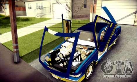 Cadillac Fleetwood 1993 Lowrider para GTA San Andreas vista interior