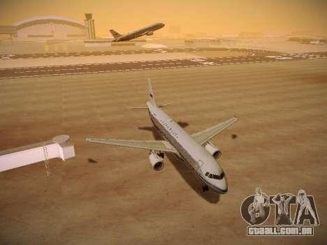 Airbus A320-214 Aeroflot Retrojet para GTA San Andreas vista traseira