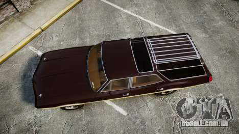 Oldsmobile Vista Cruiser 1972 Rims2 Tree5 para GTA 4 vista direita