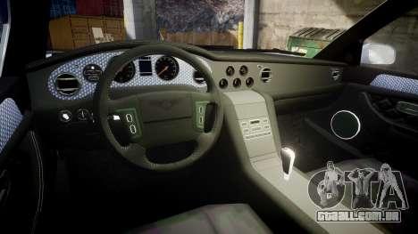 Bentley Arnage T 2005 Rims1 Chrome para GTA 4 vista interior