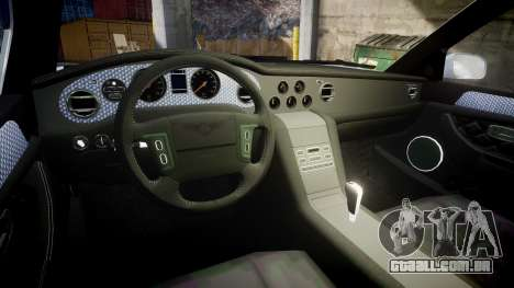 Bentley Arnage T 2005 Rims2 Chrome para GTA 4 vista interior