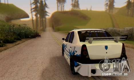 Dacia Logan Tuning para GTA San Andreas traseira esquerda vista