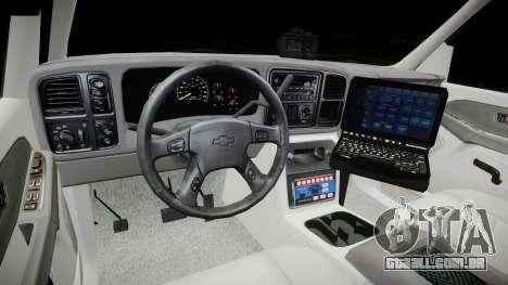 Chevrolet Suburban Undercover 2003 Grey Rims para GTA 4 vista de volta