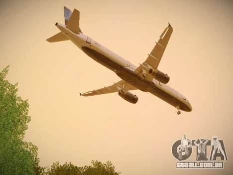 Airbus A321-232 jetBlue Do-be-do-be-blue para GTA San Andreas vista interior
