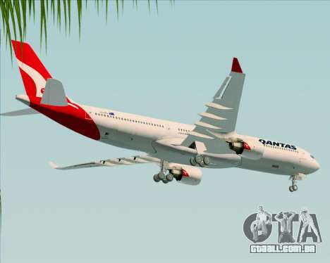 Airbus A330-300 Qantas (New Colors) para GTA San Andreas vista superior